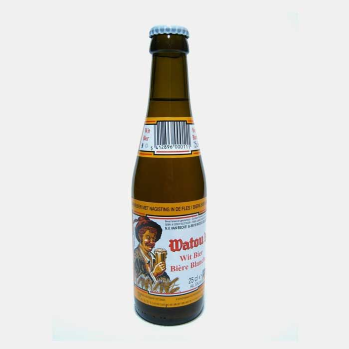WATOU WIT BIER 5.0%  Delicious full-flavoured wheat beer from the St Bernardus brewery. Full-bodied, robust and lemony