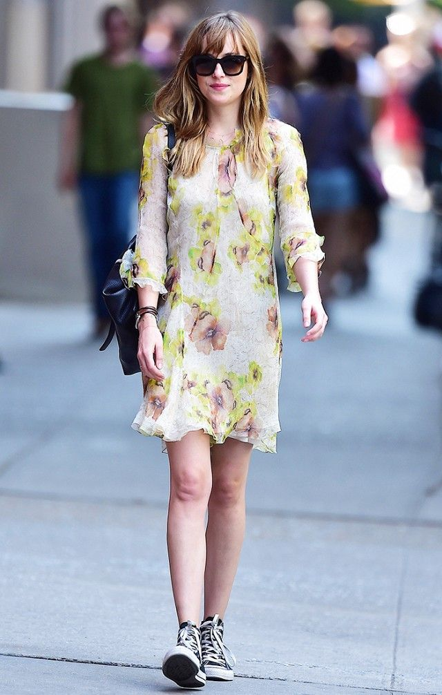 You can wear a floral dress to a concert—as long as you pair it with some cool sneakers