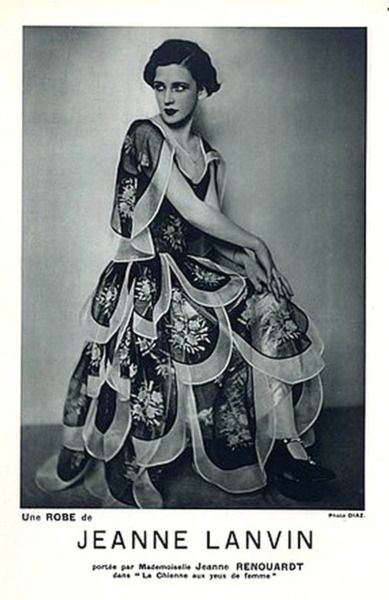 Jeanne Lanvin 1928 Evening Gown Model Jane Renouardt Luigi Diaz.