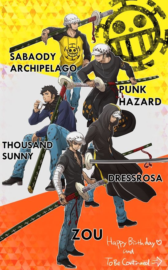 Because fate is part destiny and part self-made. — nnnmax:   Happy Birthday! Trafalgar Law♡♡