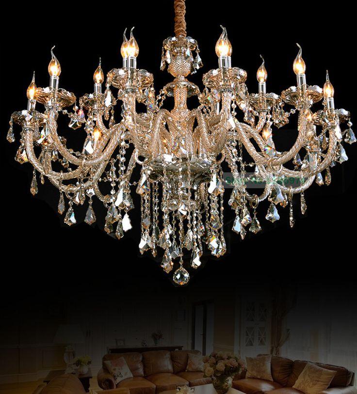 Bohemian Crystal Chandeleir Led Lamps 18 Lights Lo…