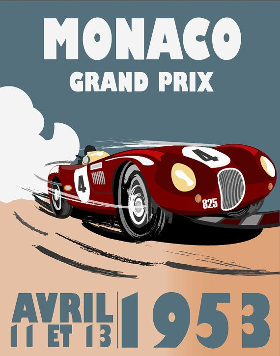 Monaco Grand Prix Monaco by FlyGraphics on Etsy                                                                                                                                                                                 More