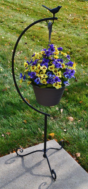 Garden Hanging Basket Planter Frame by SunHillGardenDesigns, $24.99