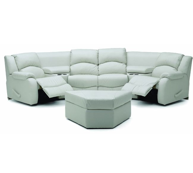 Beach look in media room sofa. Palliser Dane Sectional Collection ...