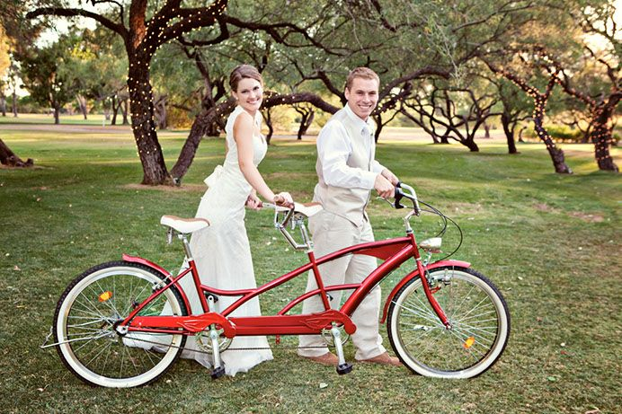 Tucson has been named one of the most bicycle friendly cities in America! Tucson Bride and Groom, #Tucson #Wedding Magazine, She.We Studio, Tucson Country Club #bicycle