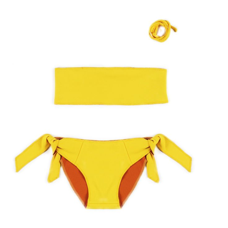 Omkeerbare Gele Bikini - Little Creative Factory - Kids Webshop Goldfish.be
