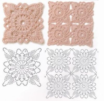 Motif Pattern, Crochet Granny, Crochet Flower, Crochet Stitches ...