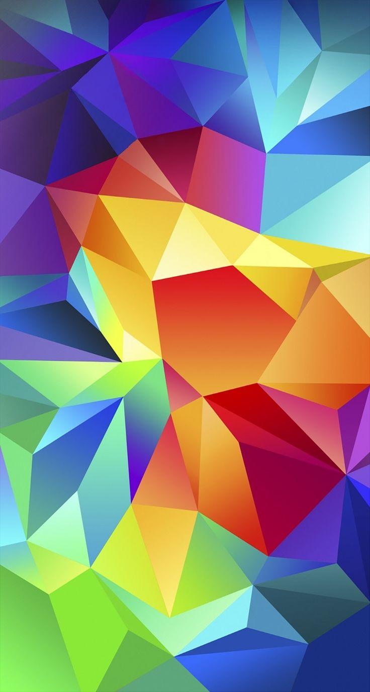 Sin líneas, sólo con áreas de color degradado, puedes crear el efecto caleidoscopio!