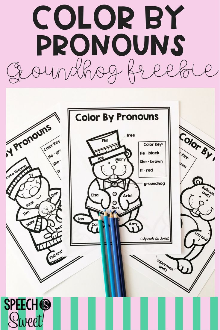 Coloring activities speech therapy - Students Will Love These Color By Pronoun Pages These