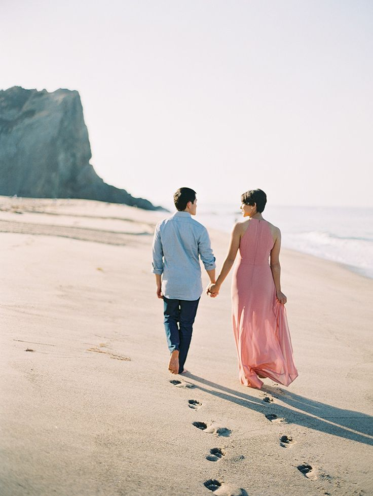 Great colors for a beach engagement shoot!