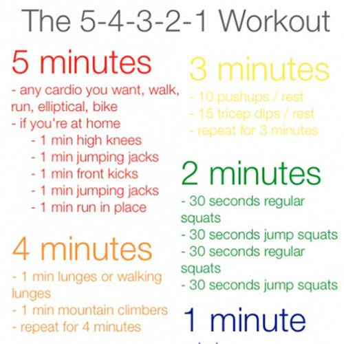 5-4-3-2-1 Workout. This looks challenging and fun!