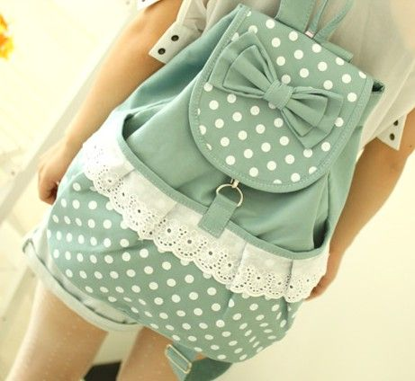 FREE Shipping Vintage Mint Lace Canvas Backpack from Moooh!! on Storenvy