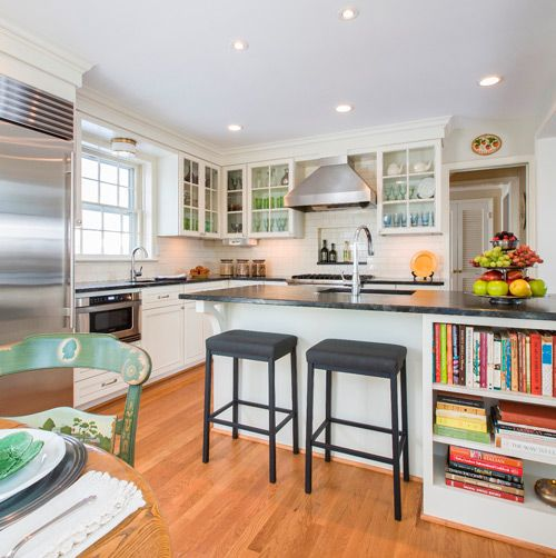 Fresh Center Hall Colonial Kitchen Remodel
