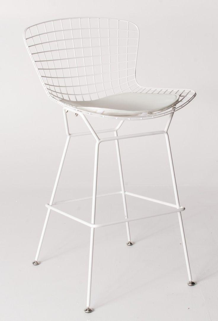 Milano Republic Furniture - Replica Harry Bertoia Wire Bar Stool - 71cm - White Powdercoat - various colour cushions, $139.00 (http://www.milanorepublicfurniture.com.au/replica-harry-bertoia-wire-bar-stool-71cm-white-powdercoat-various-colour-cushions/)