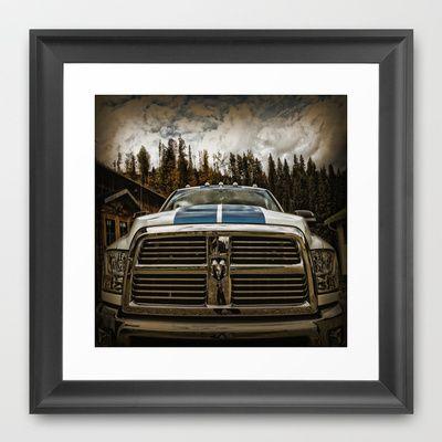 Dodge Automobile Framed Art Print by AngelEowyn - $34.00
