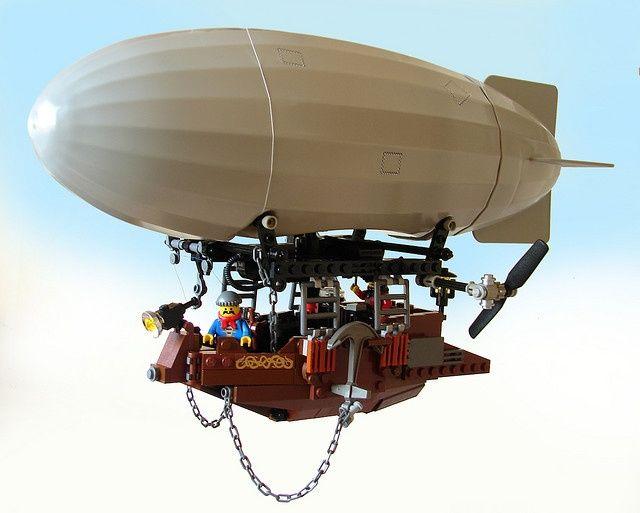 Steampunk Airship in Lego.