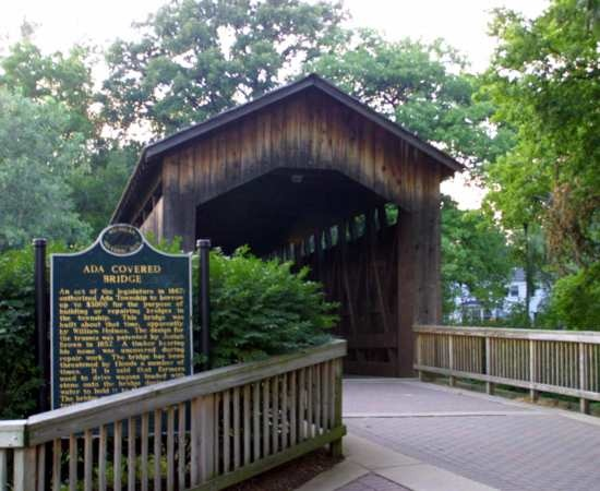 So beautiful covered bridge in Michigan.