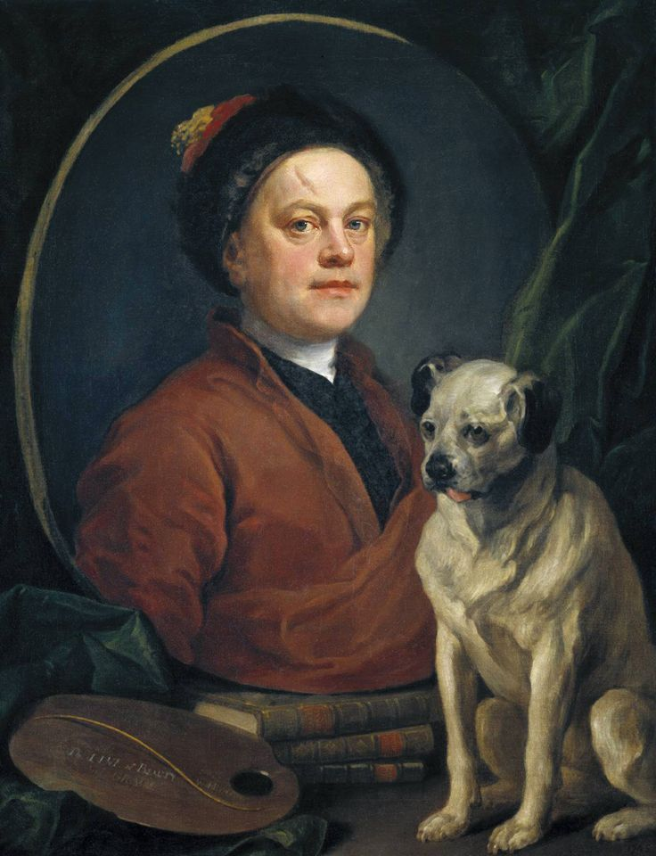 WILLIAM HOGARTH. Self-portrait. 1745.