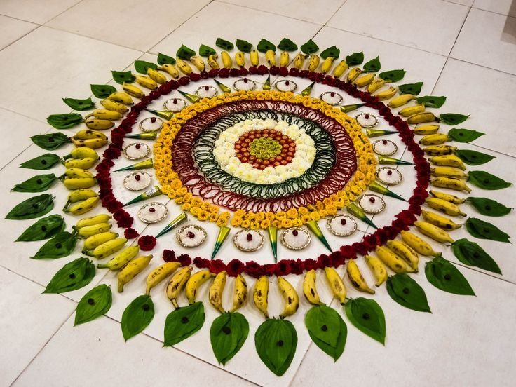 Happy Onam to all from http://iheartcreation.com !     Image source:  Wikipedia Thangaraj Kumaravel  #Onam   #Pookalam   #Fruits   #Puja   #Flowers   #Rangoli   #India   #Photography   #Festival   #Culture     #Greetings