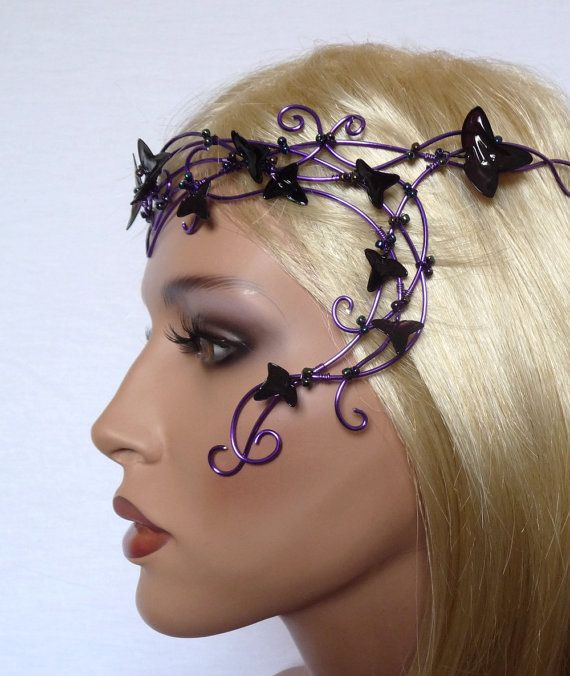 Hey, I found this really awesome Etsy listing at http://www.etsy.com/listing/128093516/purple-vine-circlet-with-purple-leaves