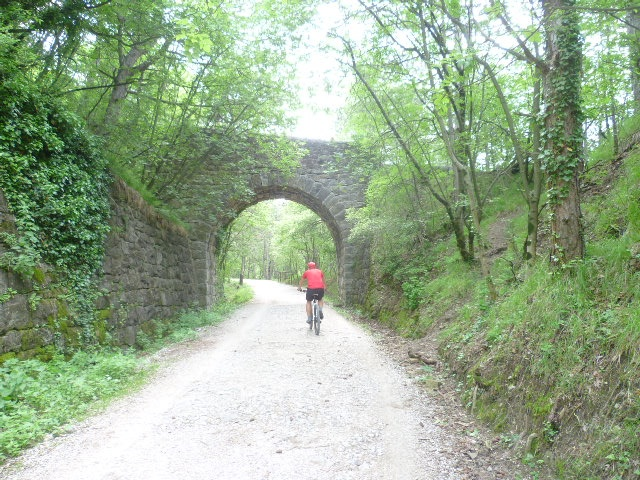 By bicycle....