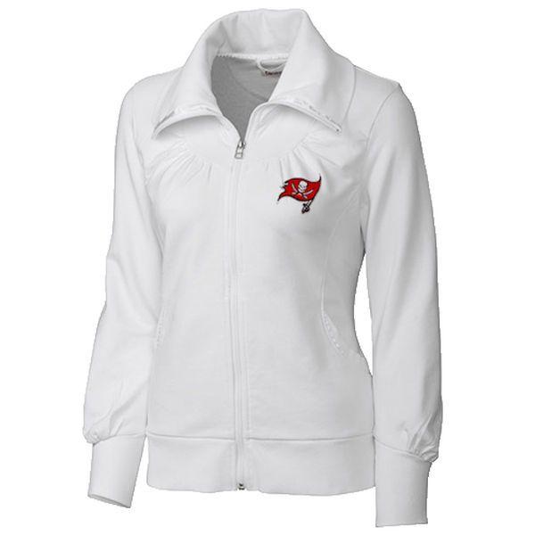 Tampa Bay Buccaneers Cutter & Buck Women's Vancouver Full Zip Sweatshirt - White - $94.99