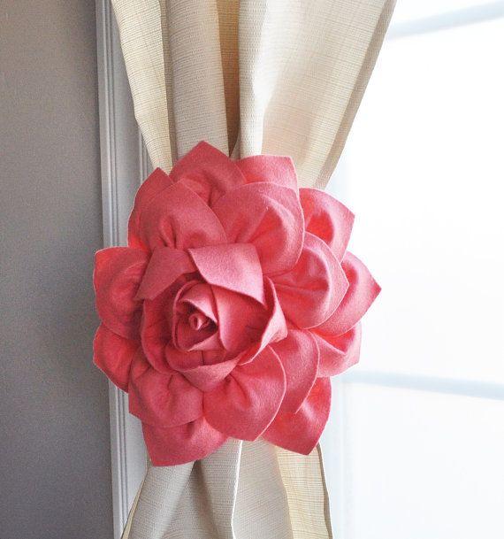 Curtain Tiebacks / Two Flower Window Treatments / by bedbuggs