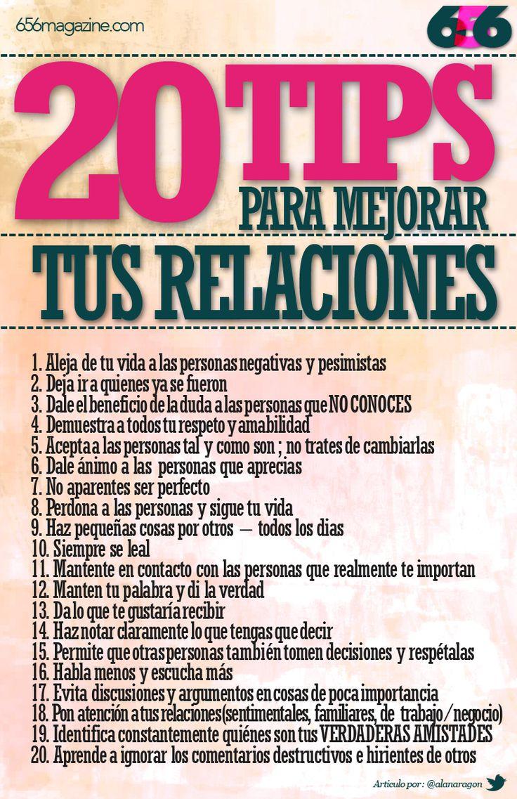 20 TIPS para mejorar tus relaciones personales