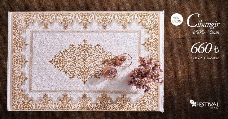 Zarif işlemeleriyle göz kamaştıran Cihangir salon halılarını hemen inceleyin, bu zarafete ortak olun. www.festivalhali.com #carpet #collection