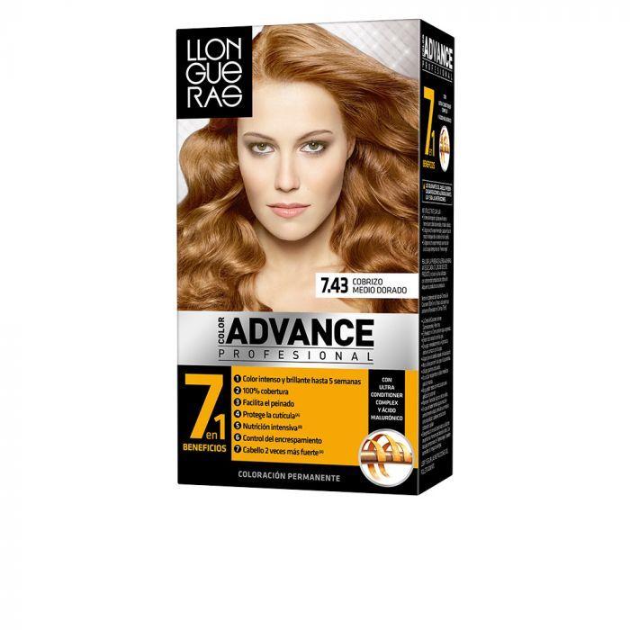 Llongueras Color Advance Hair Colour 743 Cobrizo Medio Dorado