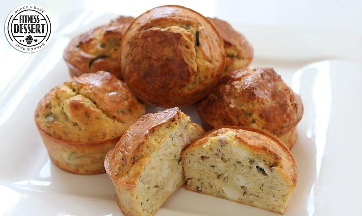 Low Carb Fetakäse Muffins | FITNESS-DESSERT.DE