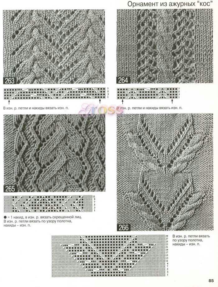 Cable Lace Knitting Stitches : 1000+ images about Points, motifs on Pinterest Stitch Patterns, Lace Knitti...