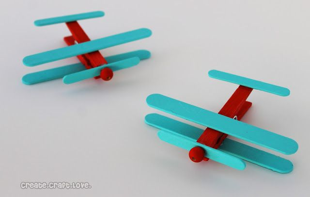 Clothespin Airplanes {Party Favors} - add a magnet on the bottom and it becomes a fridge magnet for holding notes or kid's art.