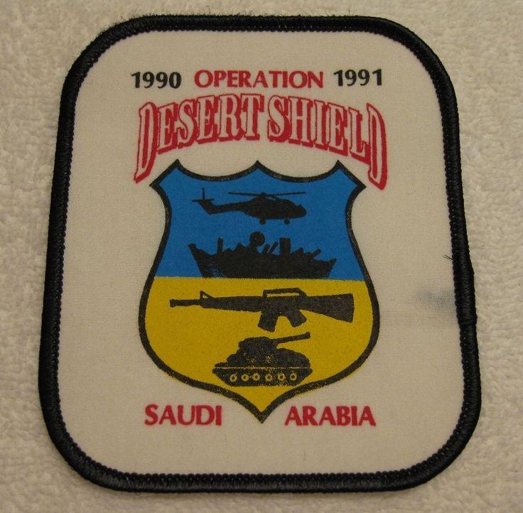 RARE OPERATION DESERT SHIELD SAUDI ARABIA 1990-91 PATCH Desert Storm Iraq FDNY in Collectables, Militaria, Gulf War (1990-1991) | eBay