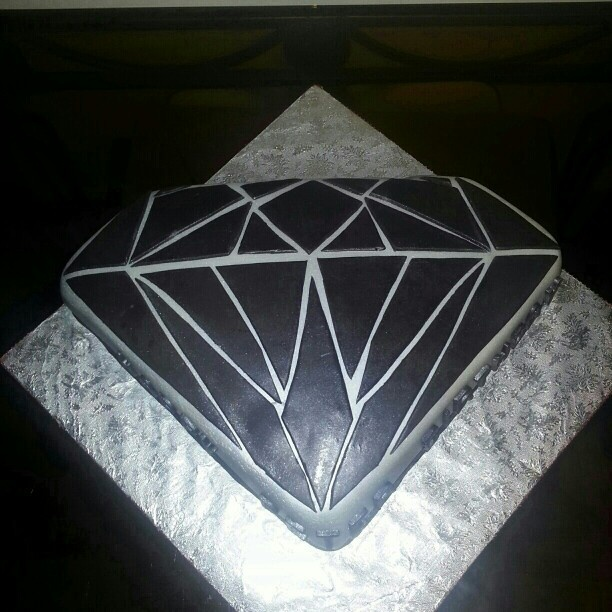 Diamond Shaped Birthday Cake
