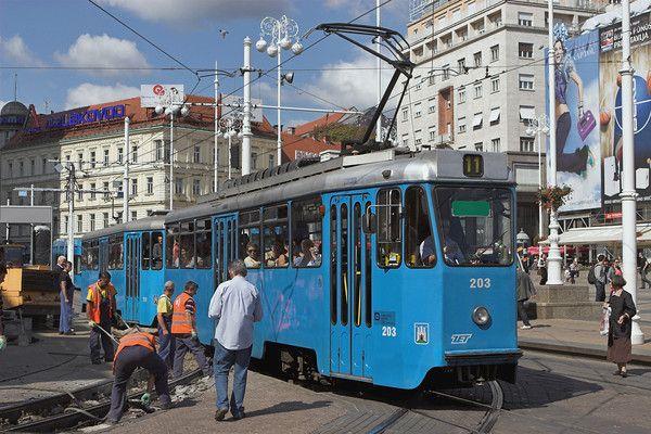 Zagreb Croatia Tram Public Transport Zagreb Street View