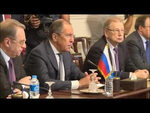 Sergey Lavrov Meets Sameh Shoukry In Cairo