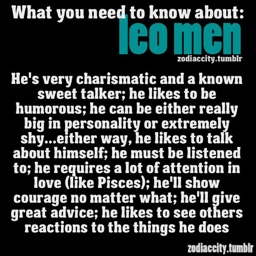 Zodiac City What you need to know about Leo men