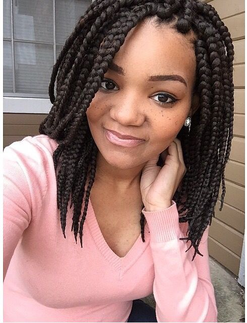 different styles of braids for short hair 314 best box braids amp twist styles images on 3417 | 97687a756bfc0d872f2db1fff3dbf0b8 short box braids hairstyles bob box braids