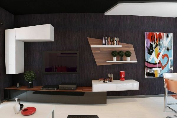 Auffällige Wohnzimmer Einrichtung - Frischekick für die Wohnung ...