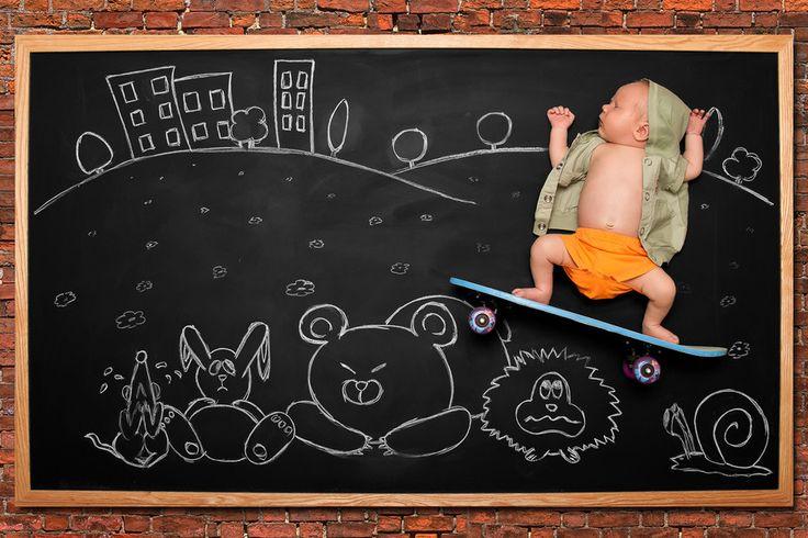 "500px / Photo ""Blackboard Adventures - Skateboarding"" by Anna Eftimie"