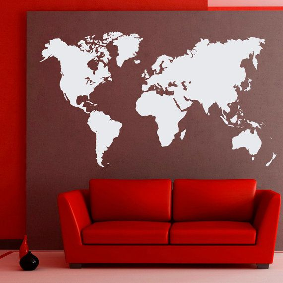 129 best warmilu office decor images on pinterest office decor world map wall decals geographic vinyl stickers countries wall decor home decor for living room decal for office sciox Choice Image
