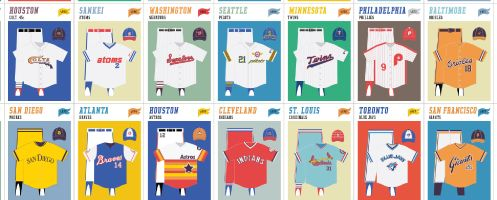 Pop Chart Lab | Design + Data = Delight | A Visual Compendium of Baseball Uniforms