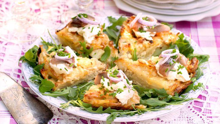 Omelett med potatis och matjessill – recept