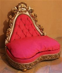 Luxurious Couture Red Satin and Crystals Bed