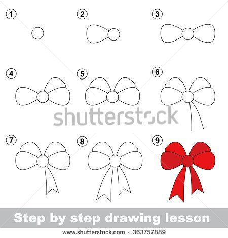 Top 25 best bow drawing ideas on pinterest world 39 s for Girly drawings step by step