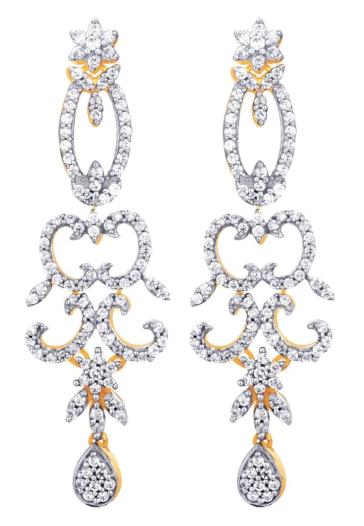 Nakshatra Diamond earrings ...: Buy Here Or Follow Here: https://plus.google.com/+GitanjalijewelsmeerutBlogspotIn99/posts https://www.facebook.com/gitanjalimeerut