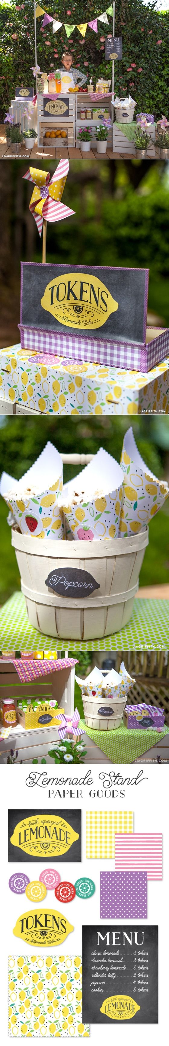 #kidsparty #lemonadestand at www.LiaGriffith.com