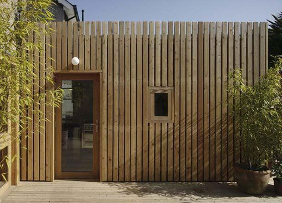 open-jointed western red cedar boards - house extension - Dublin - CAST