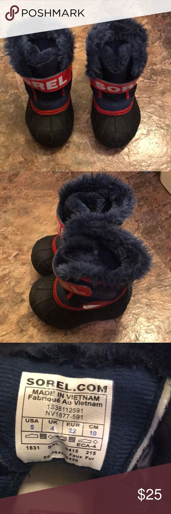 Sorel boots Like brand new. Toddler size 5 Sorel Shoes Boots